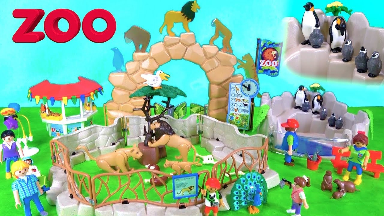 New Playmobil City Zoo Toy Wild Animals Playset Build And Play Fun