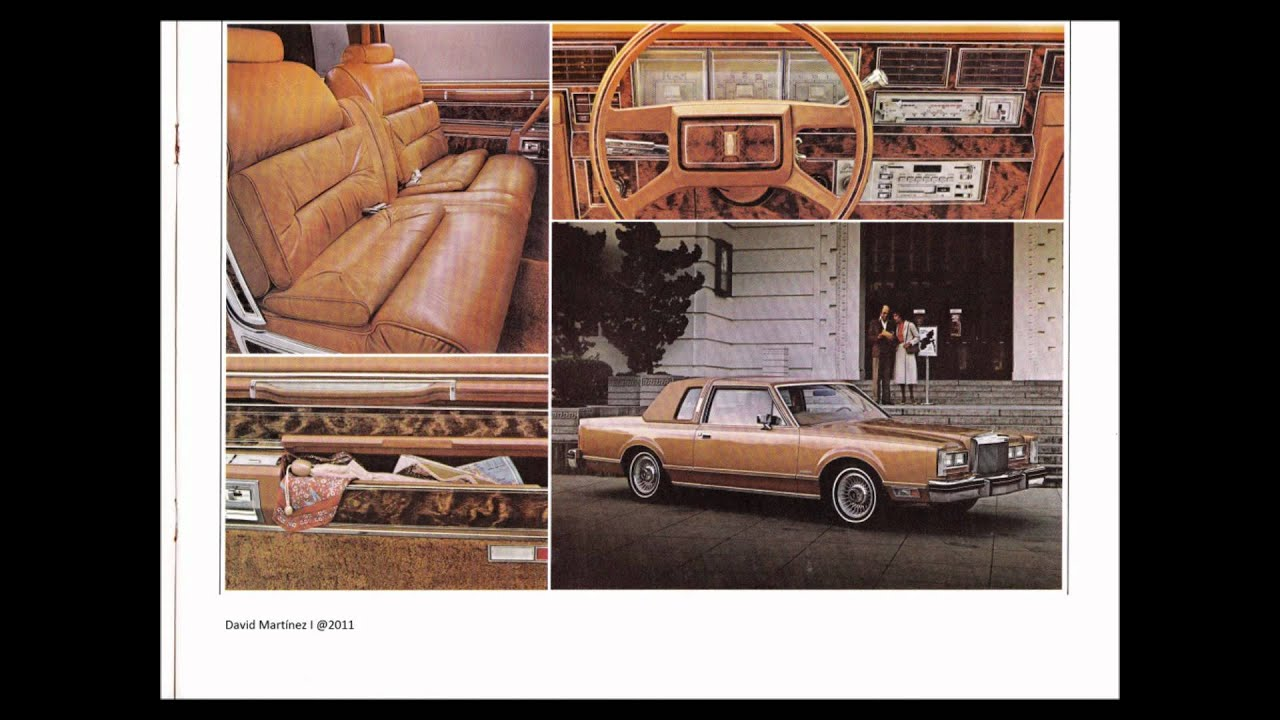 The 1980 Lincoln Continental Brochurewmv  YouTube