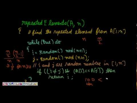 Programming Interviews: Repeated Element from an Array (Randomized Algorithm)