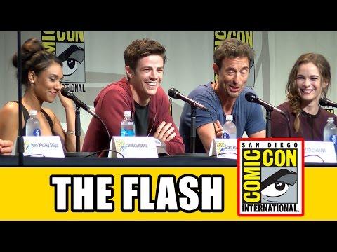 The Flash Comic Con Panel - Season 2, Grant Gustin, Candice Patton, Danielle Panabaker