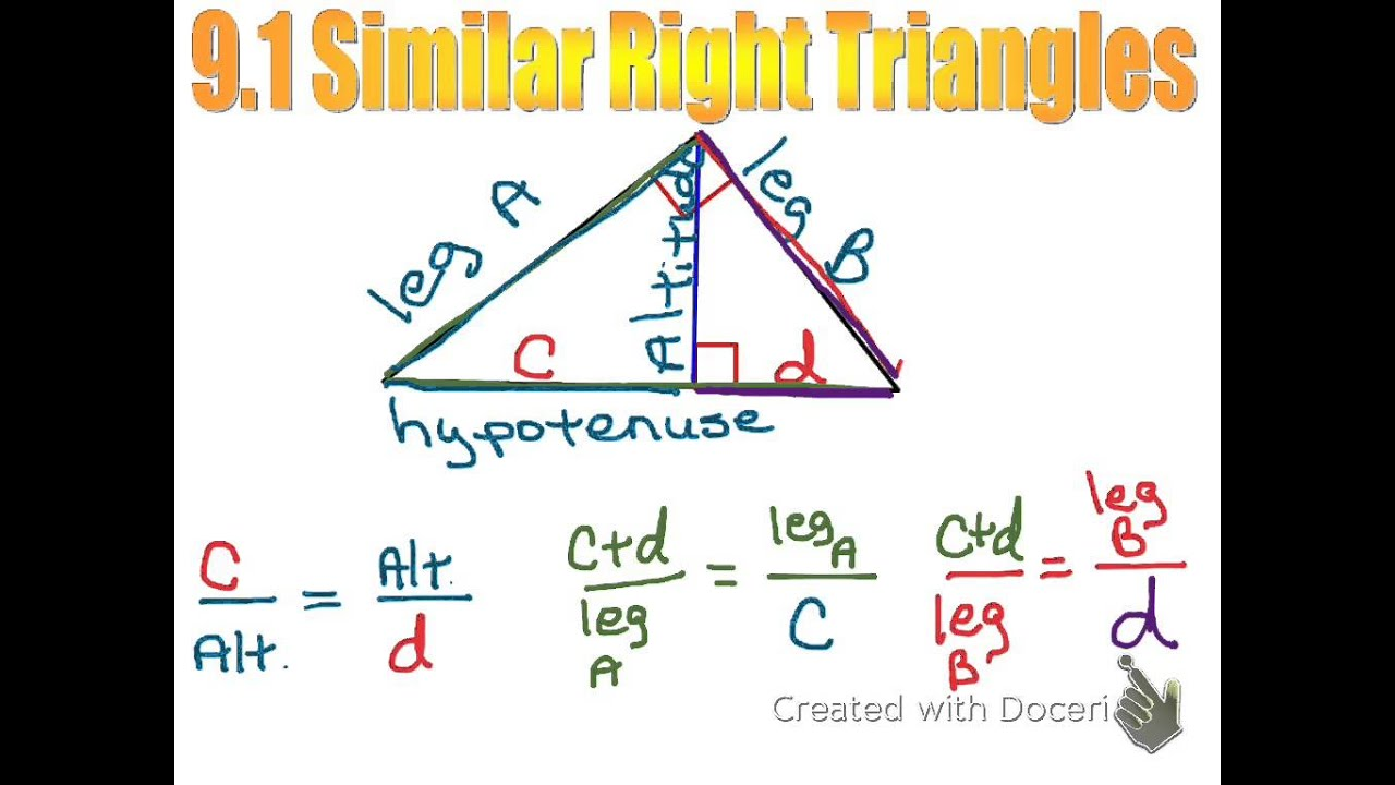 Uncategorized Similar Right Triangles Worksheet worksheet similar right triangles queensammy worksheets for geometry 9 1 youtube triangles