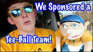 Lance, Logan, and Jeffy Sponsored a Local Tee-Ball Team and Lance S...