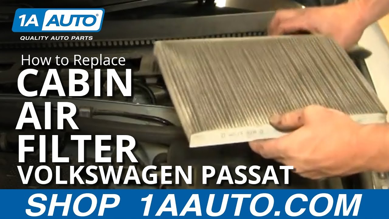 how to replace cabin air filter 01 05 volkswagen passat. Black Bedroom Furniture Sets. Home Design Ideas