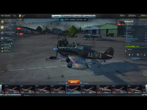 World Of Warplanes. Hawker Hurricane IID Review And Gameplay.