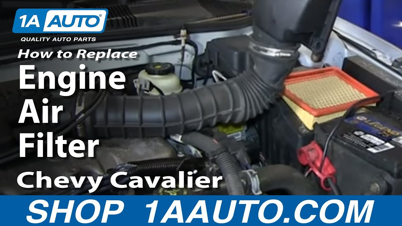 How To Replace Engine Air Filter 9505 Chevy Cavalier
