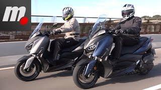 Yamaha XMAX 400 vs Yamaha XMAX 300 | Comparativo / Test / Review en español | motos.net
