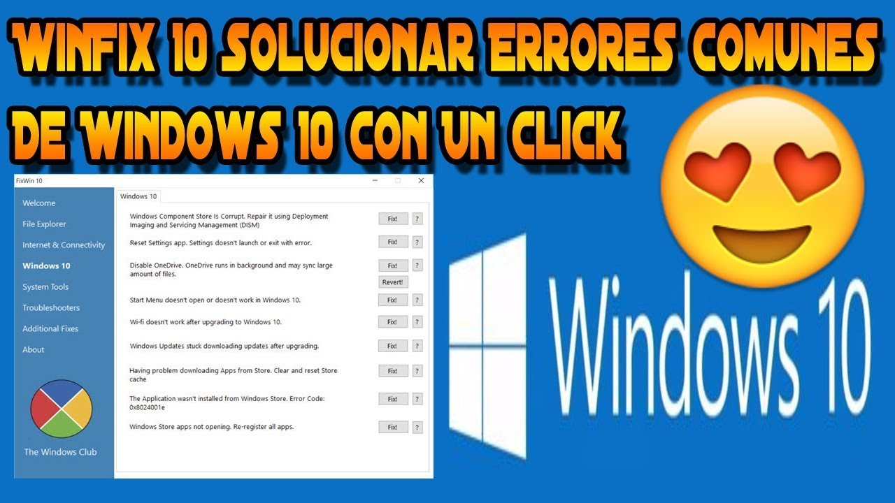 fixwin para windows 10 español