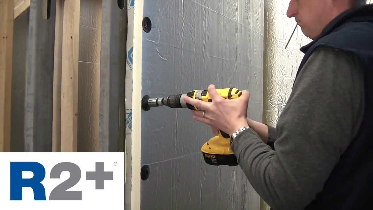 Fastening systems for attaching R2+ continuous insulation