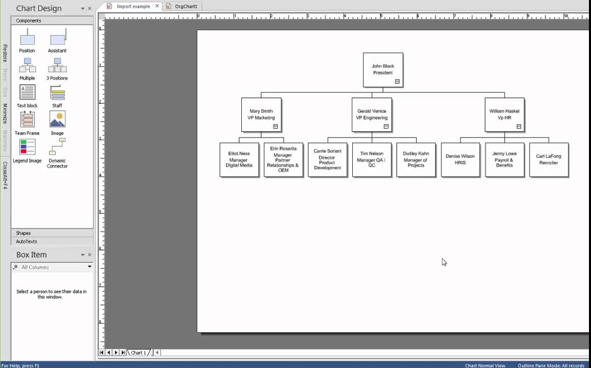 create an org chart using drag and drop youtube