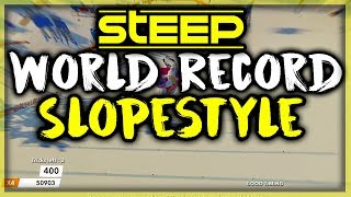 STEEP - Slopestyle World Record Score 56,439 by SniiKz