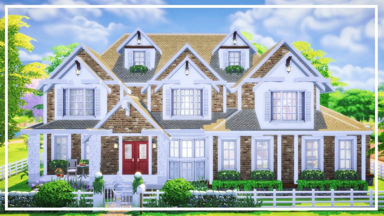 The sims 4 american house speed build youtube for The american house
