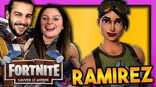 RAMIREZ IS TROP FORTE! FORTNITE SAUVER THE WORLD DUO EN
