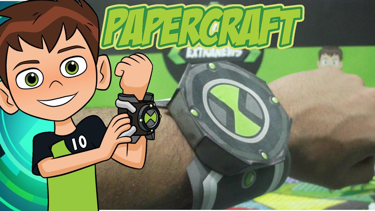 papercraft do omnitrix 2017 ben 10 youtube