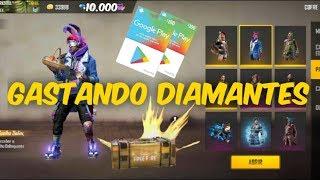 GASTANDO 2 GIFT CARD DE $100 E $50 NO FREE FIRE