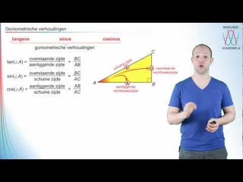 Goniometrie - de goniometrische verhoudingen - WiskundeAcademie