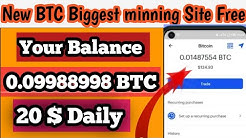 New Biggest BTC mining Site, BTC new Free website, Earn money online 2020