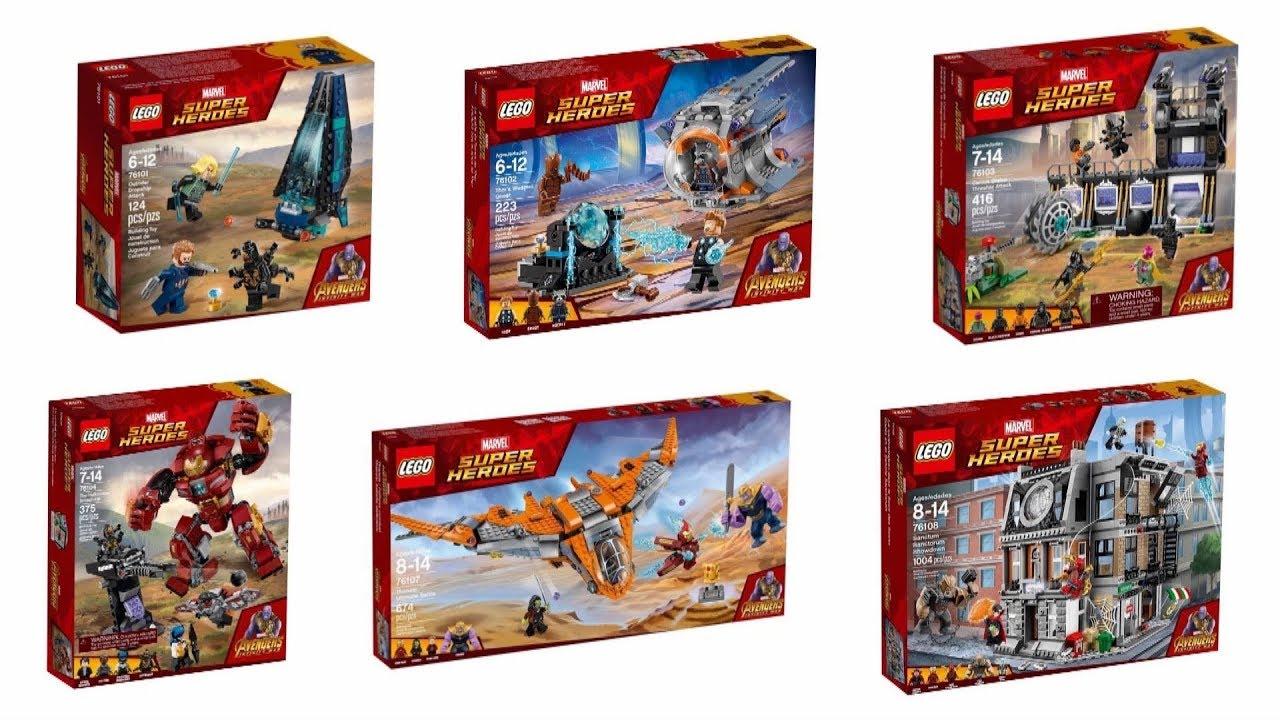 Nowości Marzec 2018 Lego Marvel Super Heroes Wojna Bez Granic Youtube