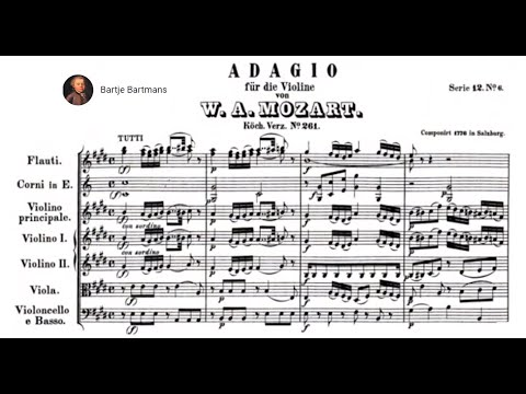 Mozart - Adagio for violin & orchestra in E major, K. 261