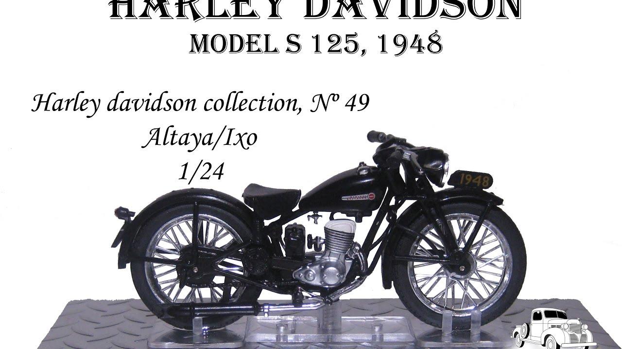 harley davidson n 49 model s 125 1948 altaya 1 24 youtube. Black Bedroom Furniture Sets. Home Design Ideas