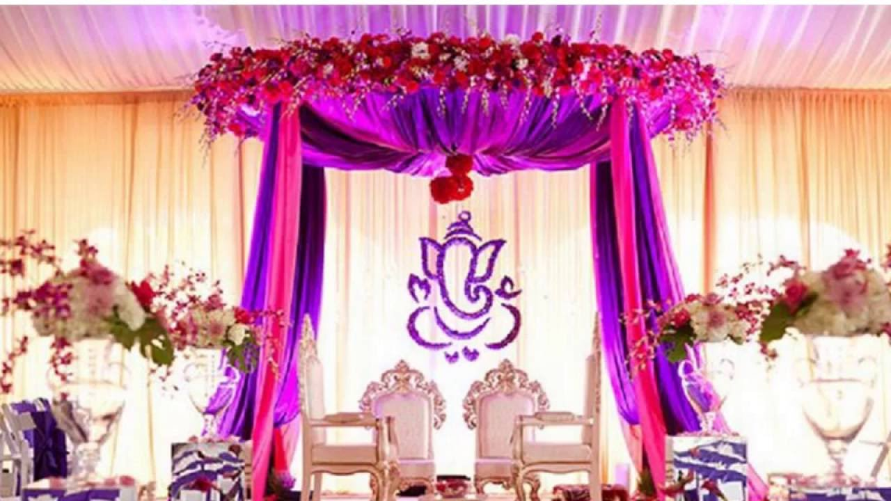 Engagement flower decorations at party halls in Chennai - YouTube
