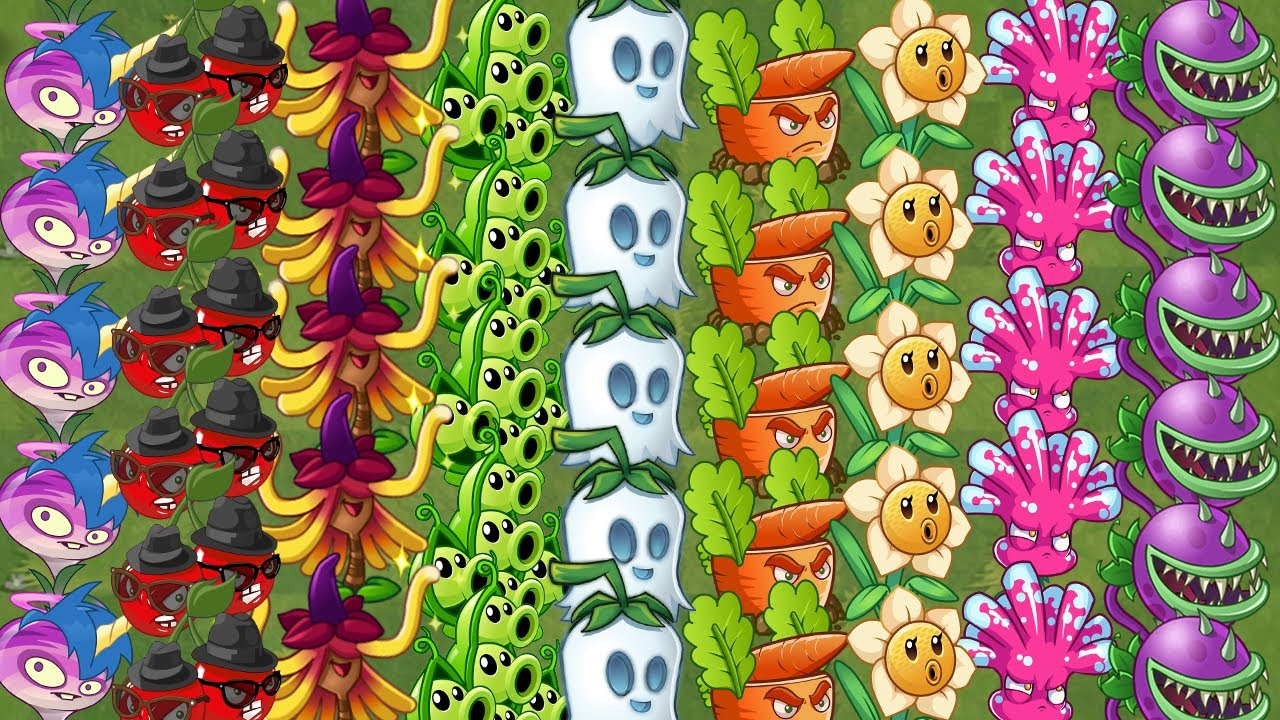 Every Plants MAX LEVEL All Tiles Extreme POWER-UP - Plants vs ...