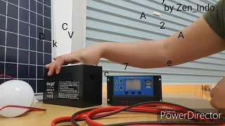 Paket Hemat Solar Cell Solar Panel 20WP DKD atau GREENTEK termasuk Controller 10A dan Kabel 2 M