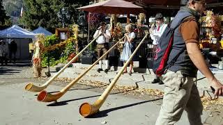 10/13/2018 Alpine horn concert, Leavenworth, WA October Fest