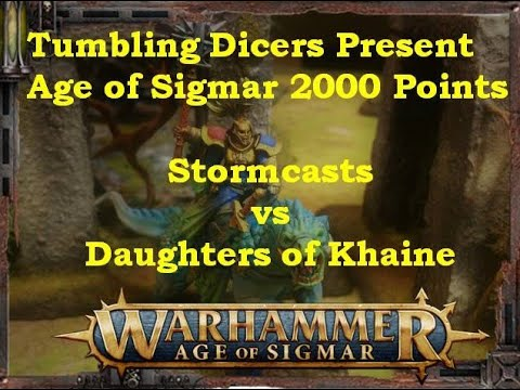 Age of Sigmar Battle Report Stormcast vs DOK Jan 2019 2000 ...
