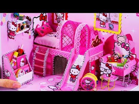 DIY Miniatures Dollhouse ~ Hello Kitty Room Decor #66