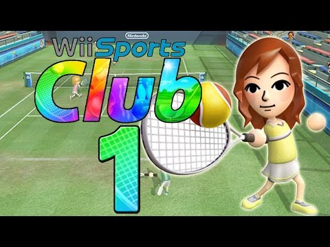 Lets Play Wii Sports Club - Part 1 - Tennis
