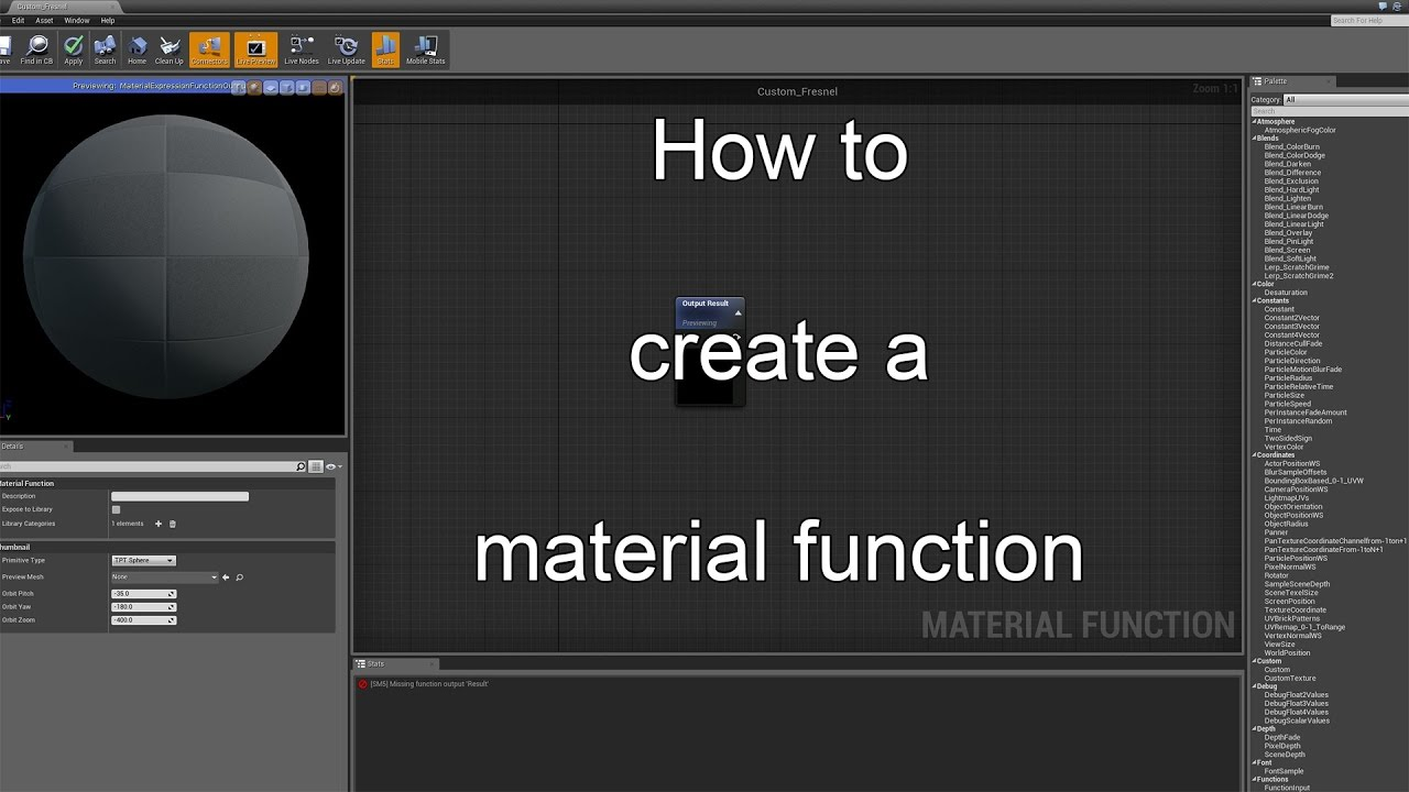 [UE4] How to create a material function  (Easy rotator/Timesine) by Yoeri  -Luos- Vleer
