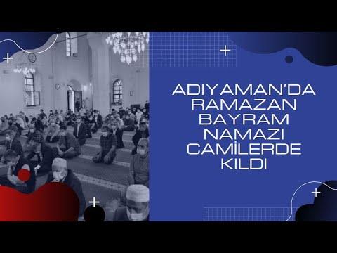 Adıyaman'da Ramazan Bayram Namazı camilerde kıldı