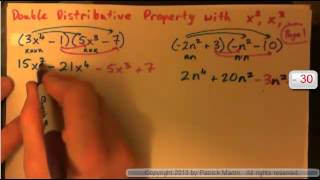 Double Distributive property with x2  x3