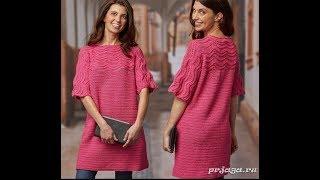 Легкий узор для платья крючком