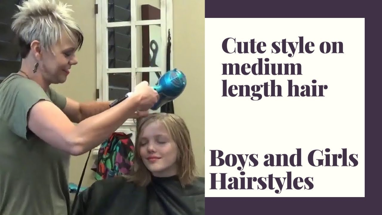 Medium Shoulder Length Haircut On Little Girls Shoulder Length Hair Youtube