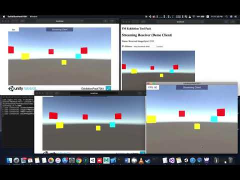 [ FMETP V1.08 ] Unity WebSocket Live Streaming Demo On All Platforms (WebGL/iOS/Android/Mac/PC/HTML)