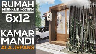 Desain Rumah Minimalis Sederhana 6x12 Ala Jepang Youtube