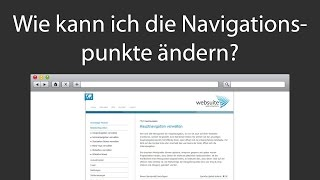Websuite Tutorial - Wie kann ich die Navigationspunkte meiner Webseite ändern?