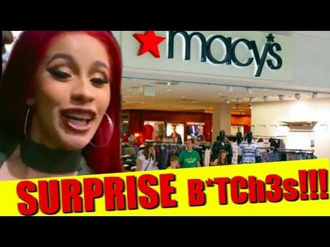 Cardi B Surprises Fans in Macy's