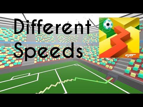 Dancing Line - The Football (Different Speeds)