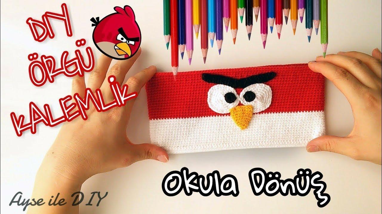 (Amigurumi) Örgü Kalemlik | DIY Crochet Pencil Case (Okula Dönüş)