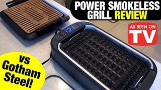 Power Smokeless Grill Review: VS Gotham Steel Smokeless Grill!