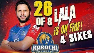 Shahid Afridi is on Fire Batting 4 Sixes in PSL   Karachi Kings Vs Peshawar Zalmi   HBL PSL 2018