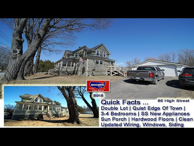 Real Estate In Maine Video | Home For Sale 86 High ST Houlton ME MOOERS REALTY #8918