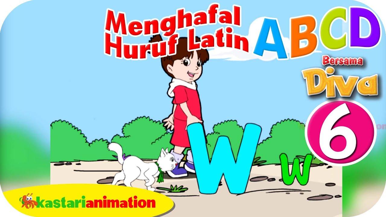 Menghafal Huruf Latin ABCD HD Part 6 Kastari Animation Official