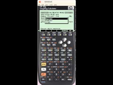HP 50G - Principios basicos - Alternando para Uso de graus - angulo