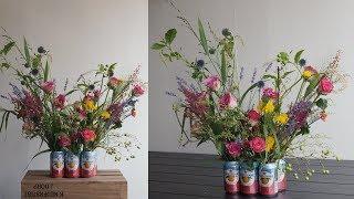 [꽃수업] 음료수 캔을 활용한 꽃꽂이 / [Flower…