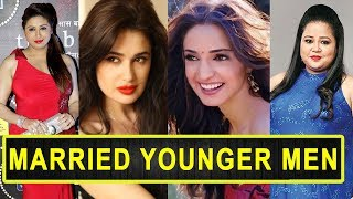 Gambar cover Top 12 Beautiful TV Actresses Married Younger Men Of Indian Television