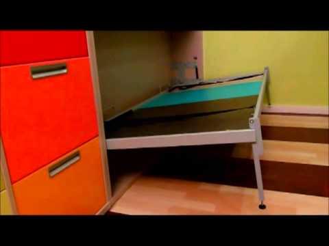 Litera infantil con cama inferior baja y quitamiedos doovi - Muebles shena literas ...