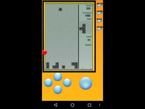 Tetris. Première vidéo, intro sur Game Android